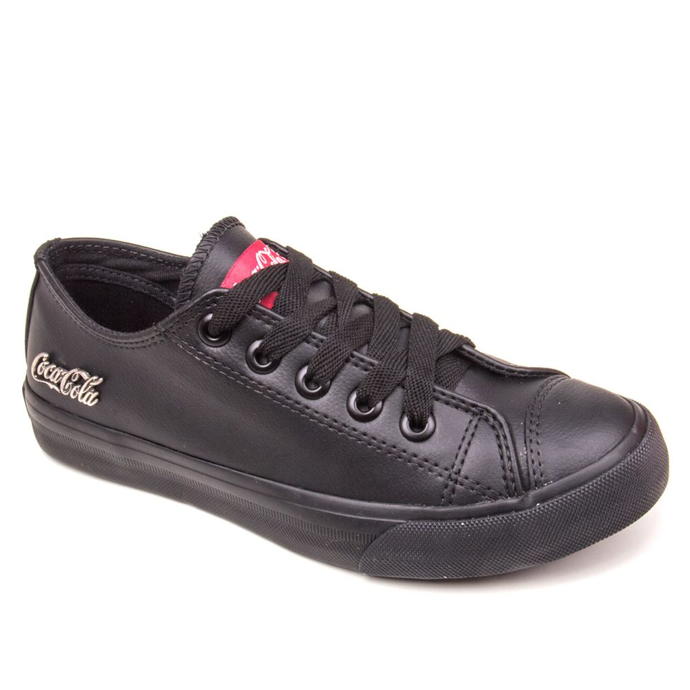 Tenis-Feminino-Coca-Cola-BASKET-FLOATER-LOW-Preto