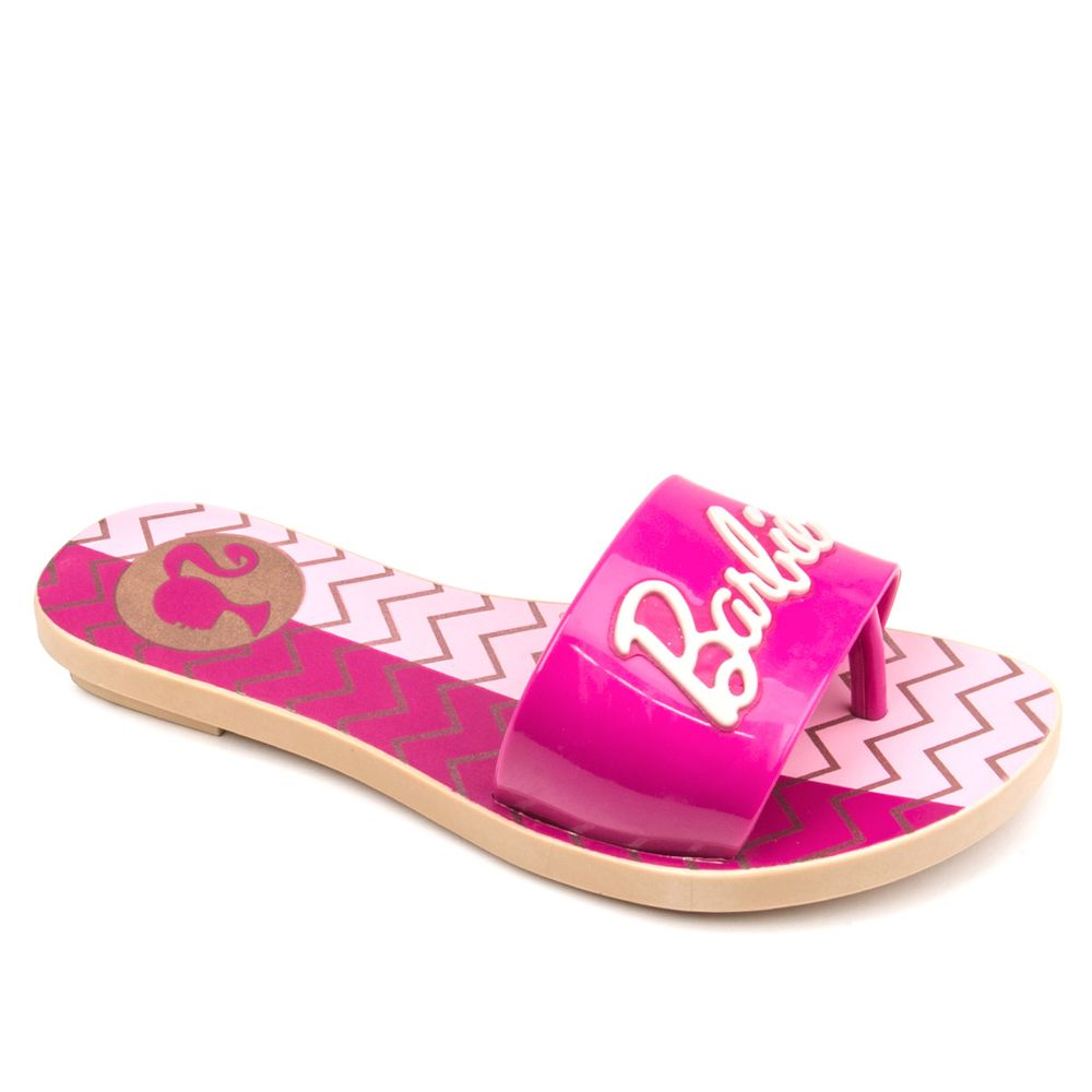 Chinelo-Infantil-Barbie-Lace-21535-Bege-Rosa